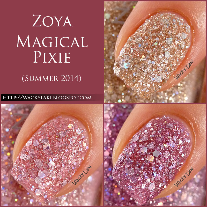 Wacky Laki: Zoya Magical Pixie Swatches and Review... Zoya Magical Pixie