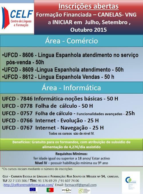 Formações gratuitas de Língua Espanhola e na área da Informática – V. N. de Gaia