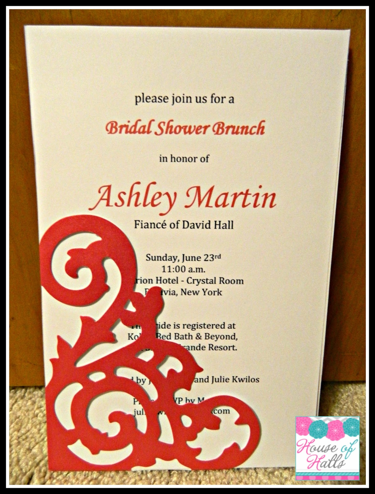 House of Halls: DIY Bridal Shower Invitations