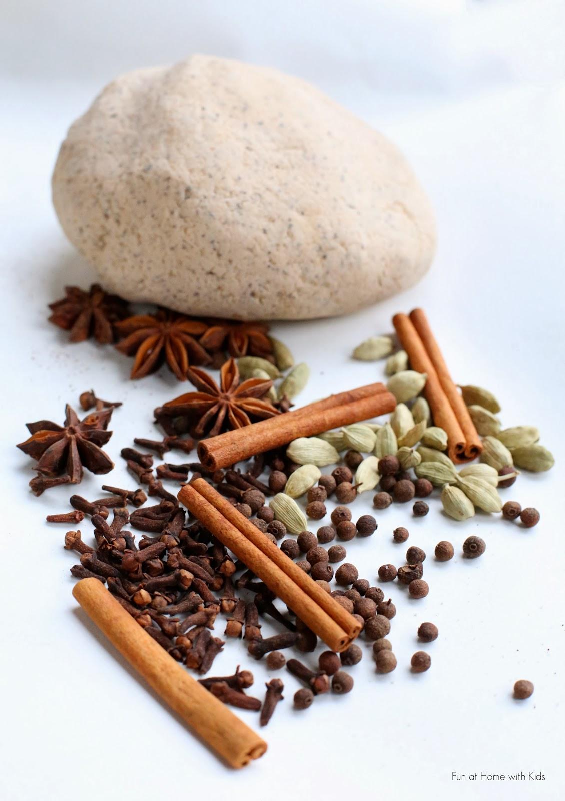 chai tea salt dough and whole spice ornaments