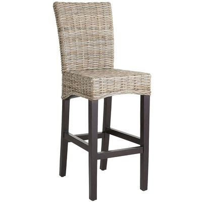 Restoration Hardware Handwoven Rattan Barstool Decor