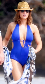 English: Alyssa Milano Blue Bikini Hawaii