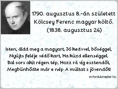 Kölcsey Ferenc magyar költő