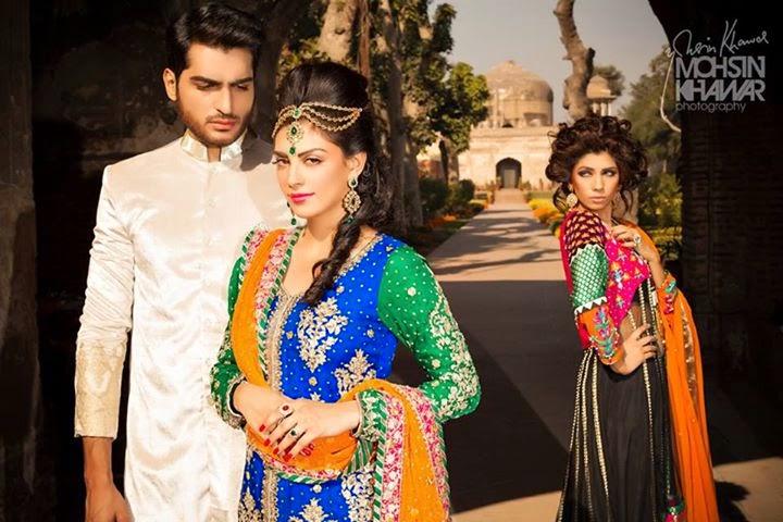 Mahroosh, Anam & Omer photoshoot for Maria B