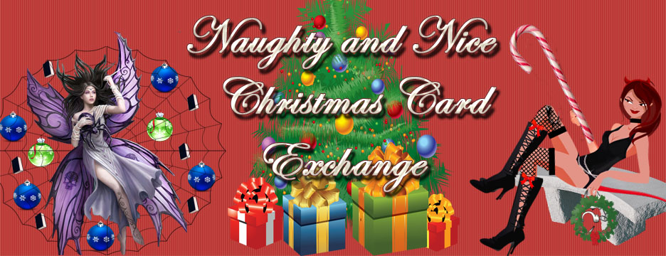Naughty or Nice Christmas Card Exchange  Read Between the Lines