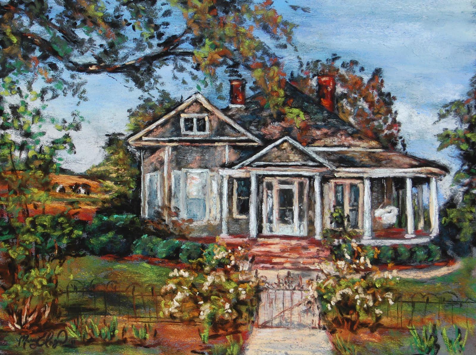 Old Farmhouse Painting Marion farmhouse  9x12 softOld Farmhouse Painting