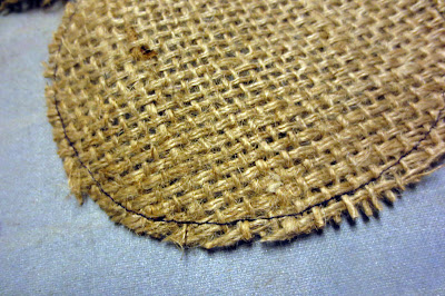 burlap for repurposed rag doll