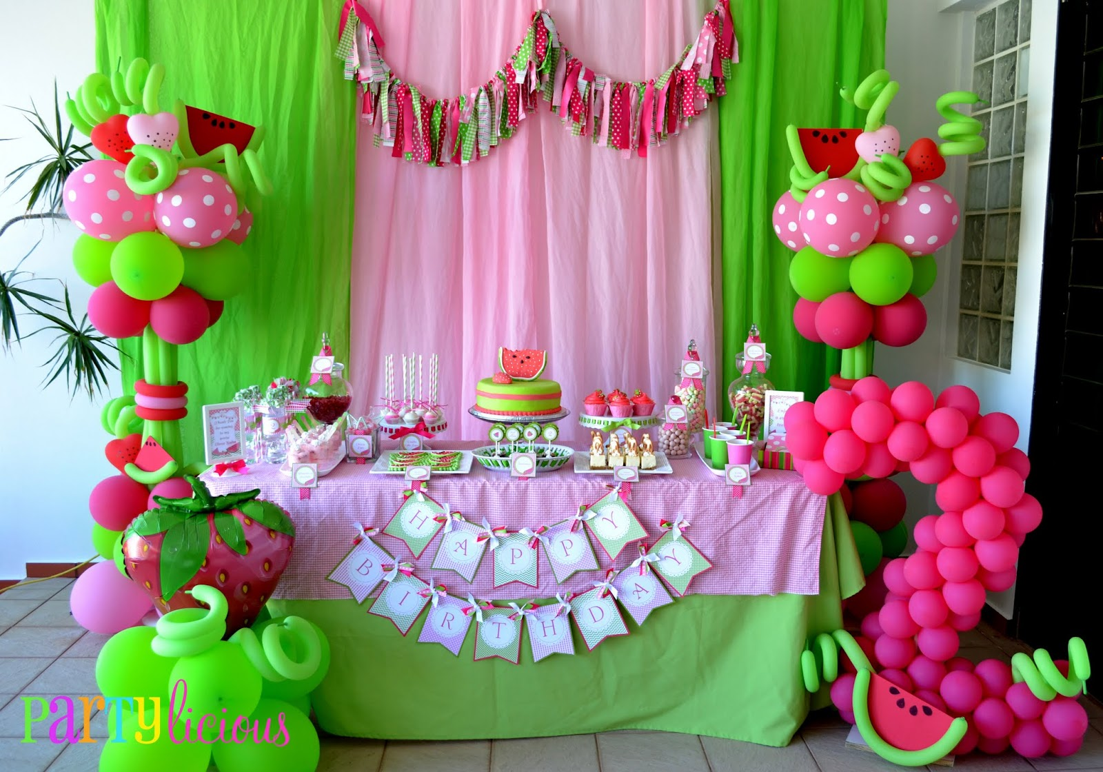 partylicious events pr watermelon berry happy birthday. Black Bedroom Furniture Sets. Home Design Ideas