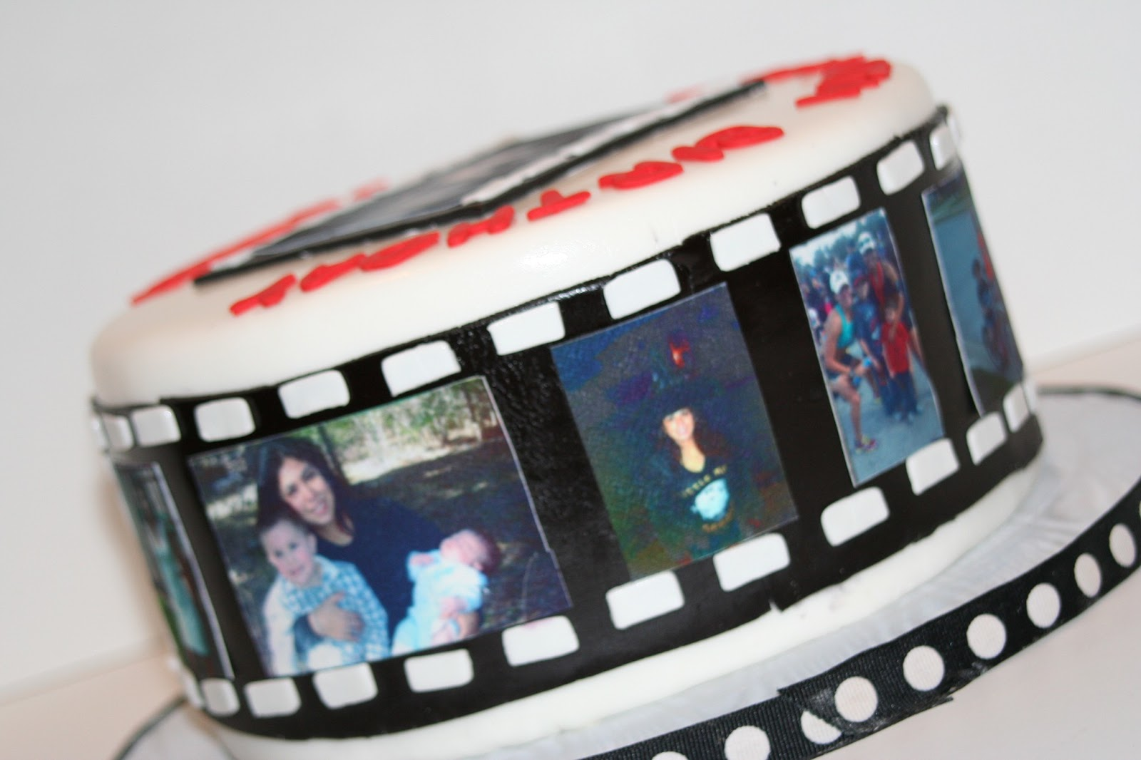 Cake With Photo Reel : Edge Desserts: Film Reel Cake - A Perfect Milestone ...