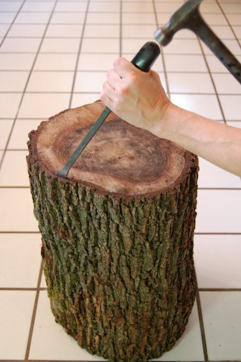 Vivian Was Here: DIY Tree Stump Table