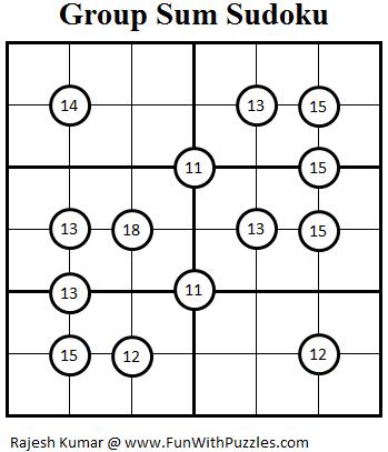 Group Sum Sudoku (Mini Sudoku Series #22)