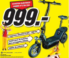 media markt scooter eléctrico