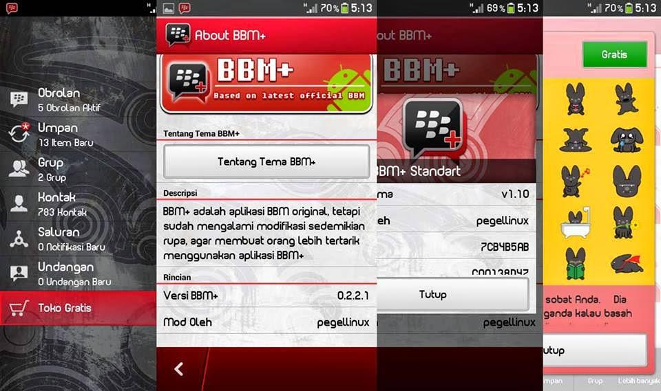 BBM Mod Full Stiker Terbaru untuk Android