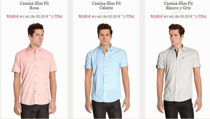 Camisas de manga corta para hombre