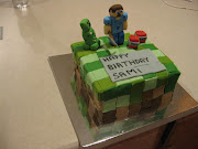 I made this Minecraft cake for a 13 year old who LOVES to play this game on .