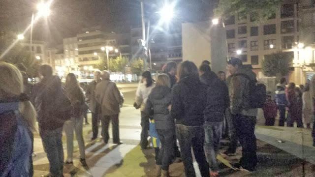 manifestacion estudiantes y padres en Béjar