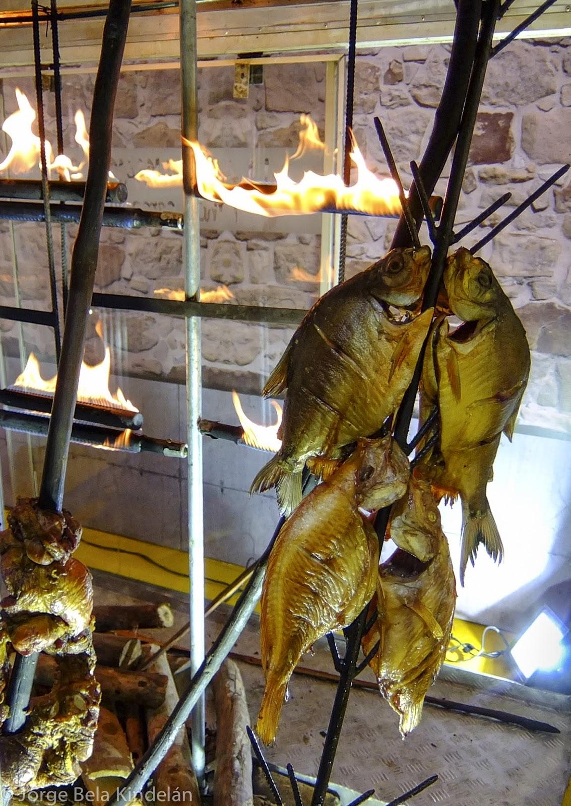 Pescado cocinado al estilo llanero. Expoartesanías, Bogotá. Foto: Jorge Bela