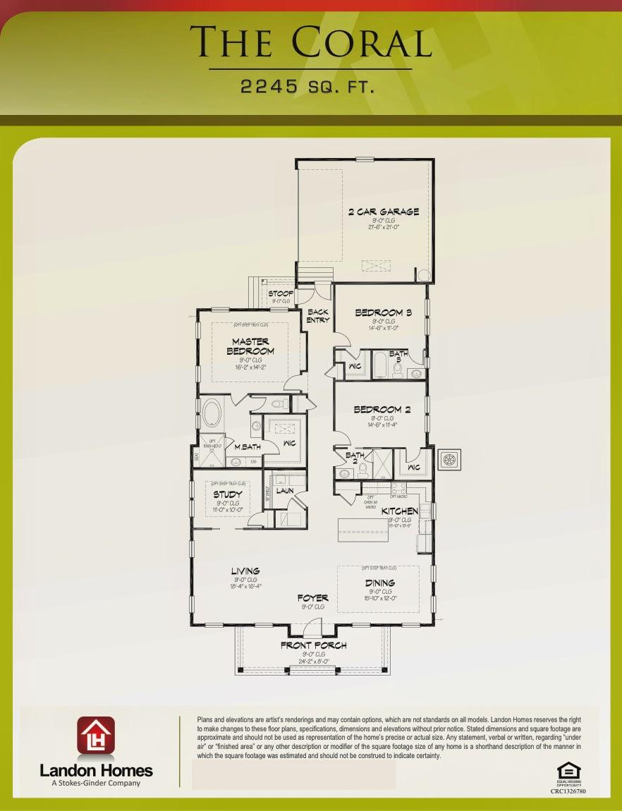 Landon homes featuring 39 the coral 39 floorplan beach for Landon homes floor plans