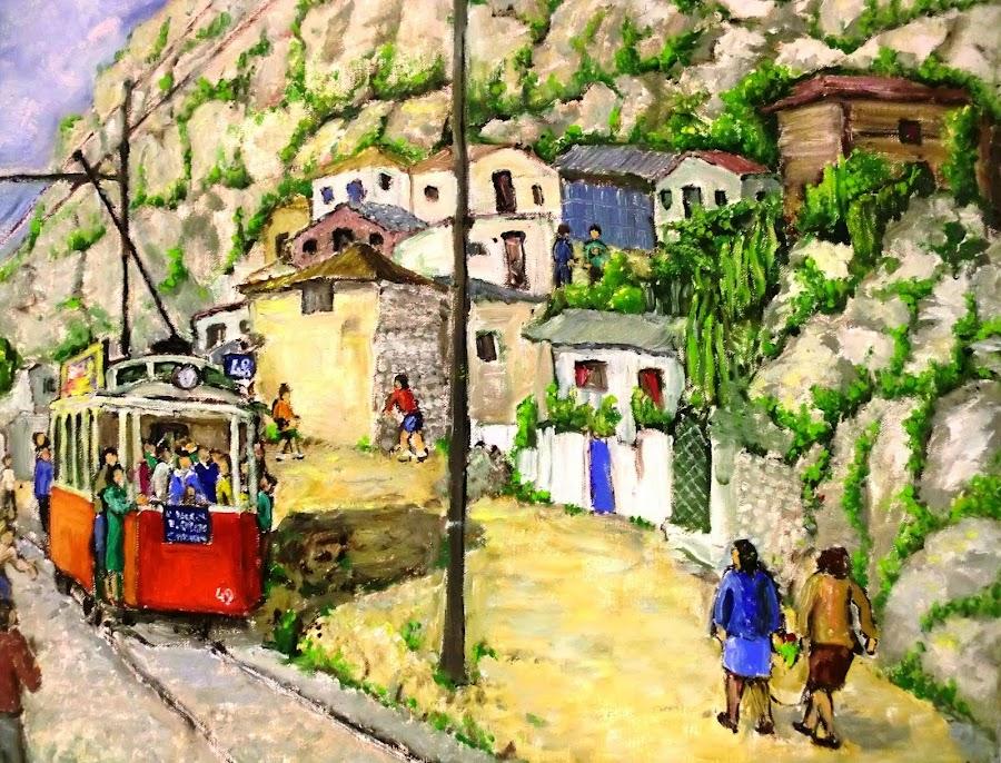 Barraques i tramvia 48 al Morrot. Josep M. Torres