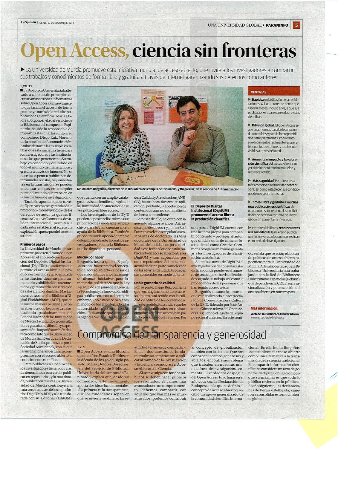 """""""Open Access, ciencia sin fronteras""""."""