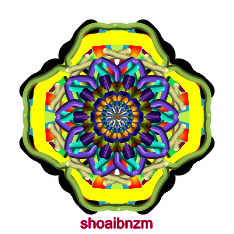 Floral Shape Coloured Lines Art Designs Patterns