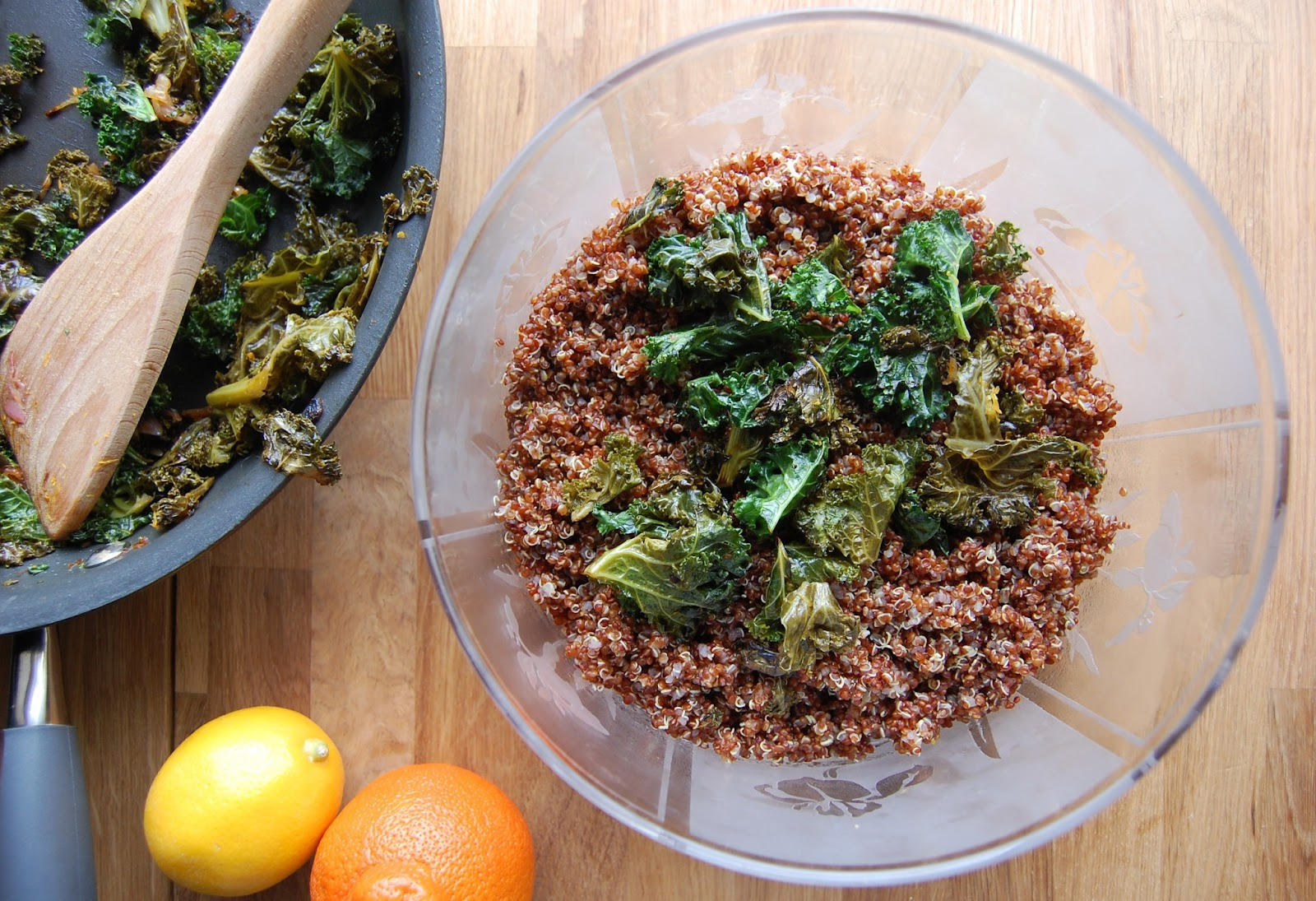 Citrus, Quinoa and Kale Salad with Meyer Lemon Vinaigrette