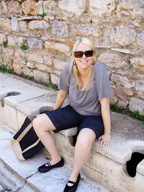 Toilets in Ephesus, Turkey