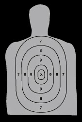 simple illustration of a shooting range target