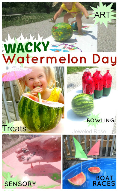Summer fun - wacky Watermelon Day - packed with activities kids will love!