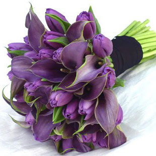 purple tulips for wedding