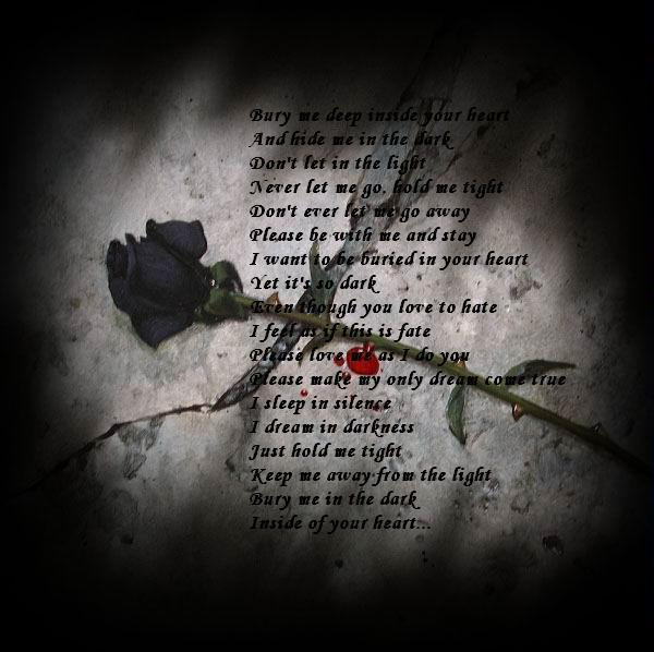 poems for love. BLOODFLOWERZ - Dark Love Poems