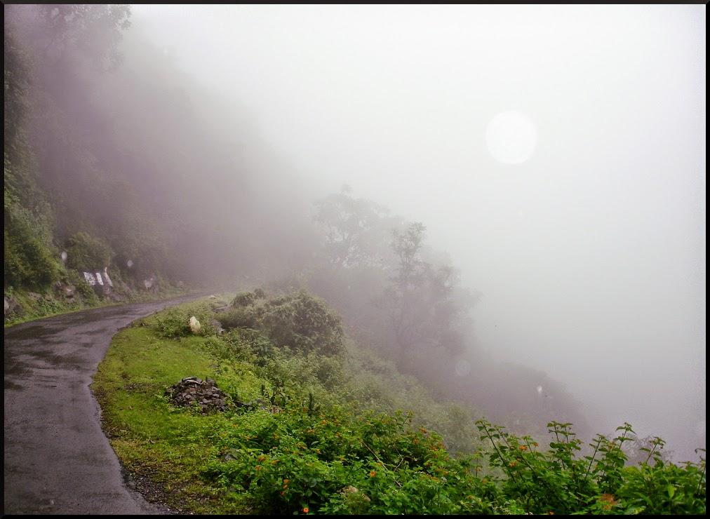 Zero Visibility on the Way to Kasauli