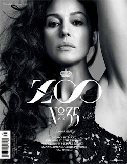 Monica Bellucci on the cover of  Zoo Magazine Summer 2012