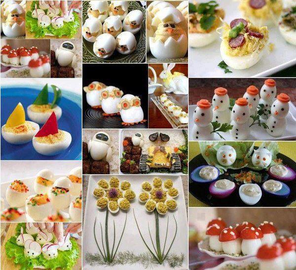 Bocaditos con huevos