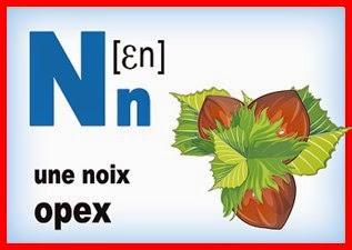 Карточка - французская буква N