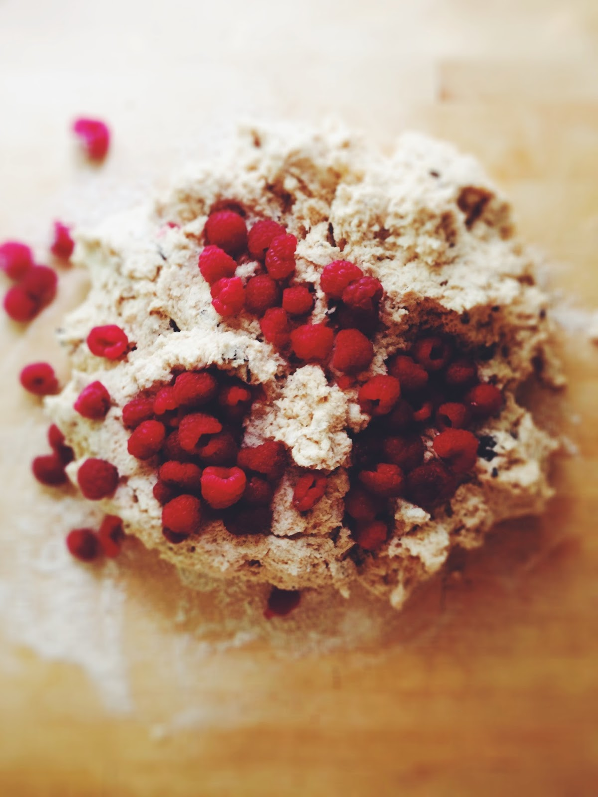 sweetsugarbean: Time Out: Raspberry Dark Chocolate Coconut Scones