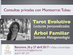 26 & 27 abril 2017 * Consultas con Montserrat Tubau en BARCELONA ¡Reserva tu cita!