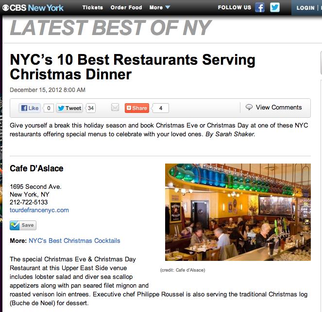 Bright lights my city nyc s 10 best restaurants serving for Restaurants serving christmas dinner