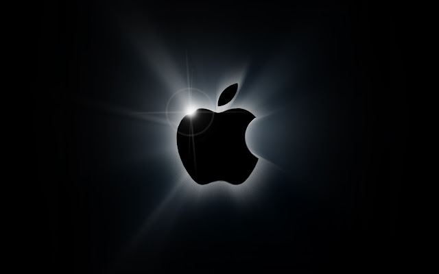 apple black logo wallpaper