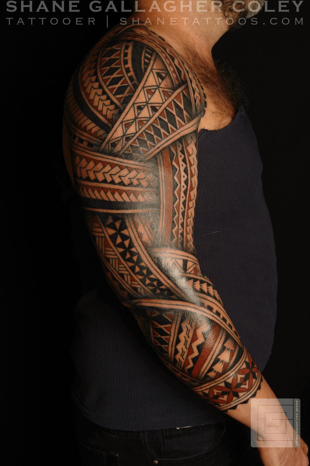 Полинезия тату рукав