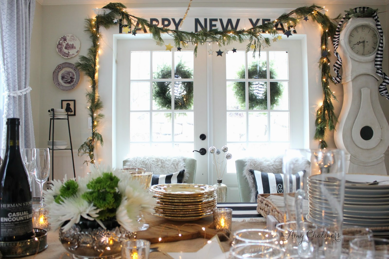 Maison decor a glittery new years eve affair for Art decoration maison