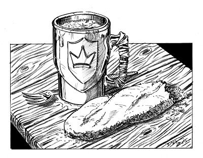 Mug and Bread by Del Teigeler, Mavfire