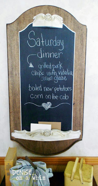 chalkboard makeover from roadside find