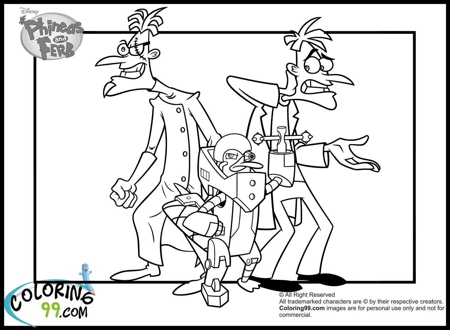 ferb and phineas coloring pages - photo#30