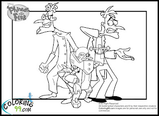 phineas and ferb evil figures coloring pages