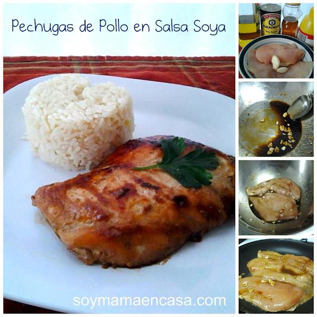 receta facil de pollo con salsa soya