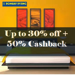 Buy Bombay Dyeing BedSheets min 20% off + 50% Cashback from at Rs. 799