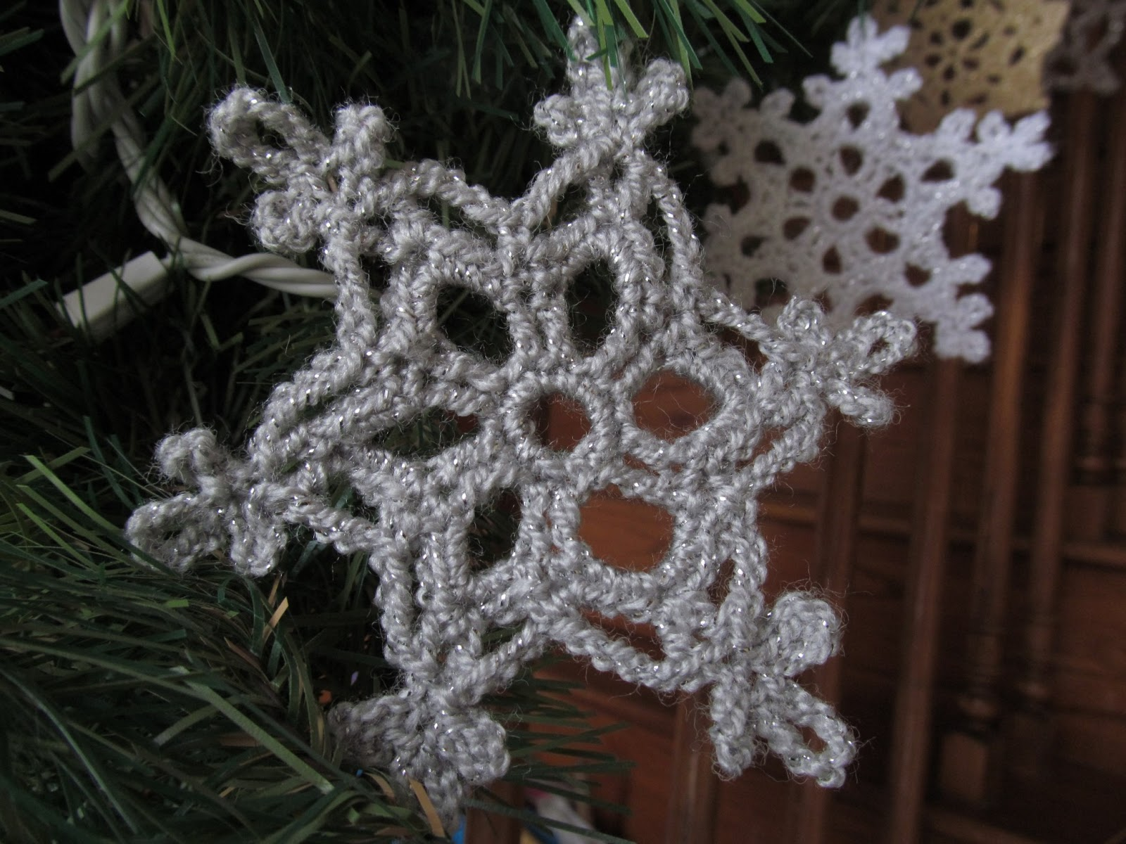 Crochet Knot : And here are some snowflakes I crocheted around Christmas. These ...