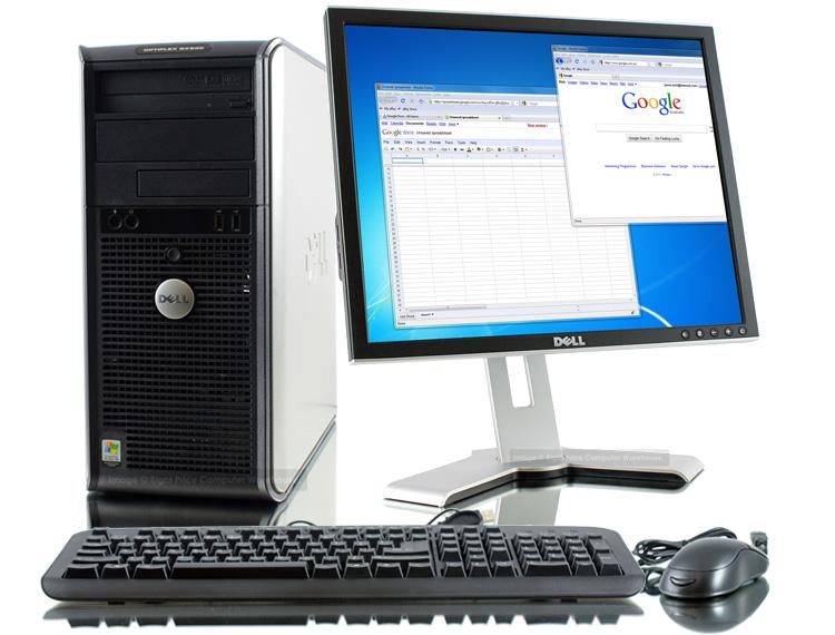 paket cpu built-up dell core2duo dengan keyboard dan mouse serta lcd