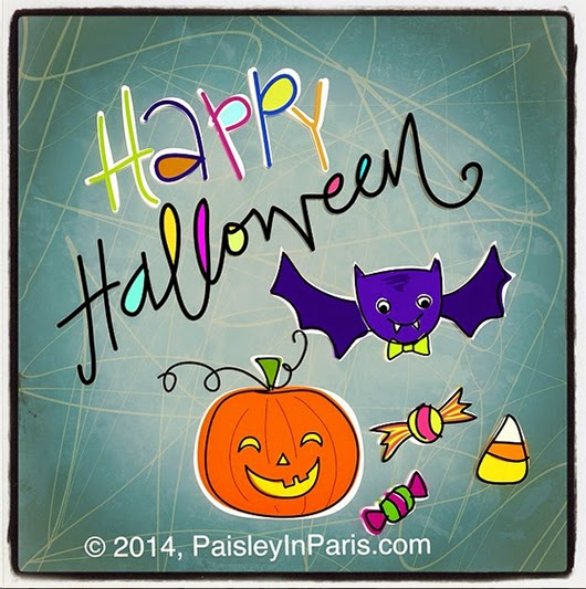 Halloween Illustration by Dio Perez, Designer/Illustrator, Paisley In Paris™